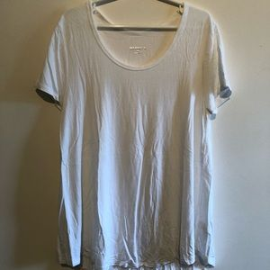 merona white scoop neck top